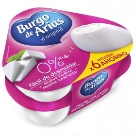 Mini burgo 0% envase ahorro Burgo de Arias 6x72 g.
