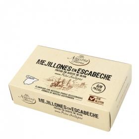 Mejillones en escabeche De Nuestra Tierra sin gluten 111 g.