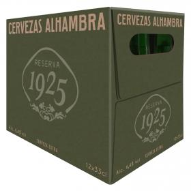 Cerveza Alhambra Reserva 1925 pack de 12 botellas de 33 cl.