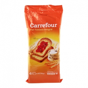Pan tostado integral Carrefour 720 g.