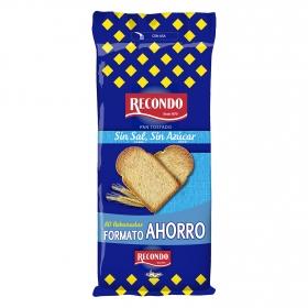 Pan tostado sin sal y sin azúcar añadidos Recondo 80 ud.