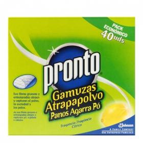 Toallitas atrapapolvo limon Pronto 40 ud.