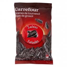 Pipas de girasol saladas Carrefour 200 g.