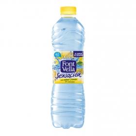 Agua mineral Font Vella sensación 0% azúcares sabor limón+lima 1,25 l.
