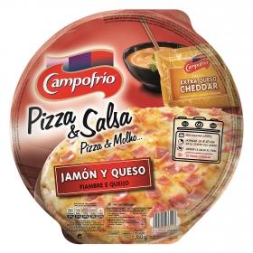 Pizza de jamón y queso con salsa bechamel