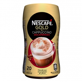 Café soluble cappuccino descafeinado Nescafé 250 g.
