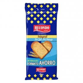 Pan tostado integral sin sal y sin azúcar Recondo 720 g.