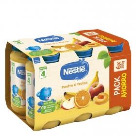 Tarrito de 6 frutas desde 4 meses sin azúcar añadido Nestlé sin gluten pack de 6 unidades de 250 g.