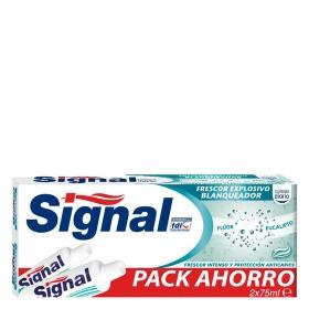 Dentífrico blanqueador Signal pack de 2 unidades de 75 ml.