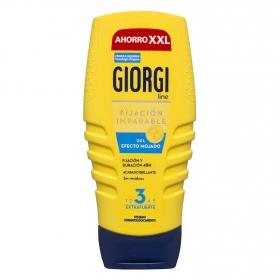 Gel fijador 'efecto mojado' extrafuerte Giorgi 250 ml.