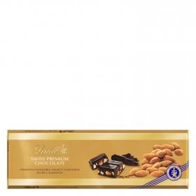 Chocolate negro con almendras enteras Lindt 300 g.