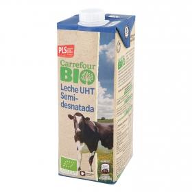 Leche semidesnatada ecológica Carrefour Bio brik 1 l.
