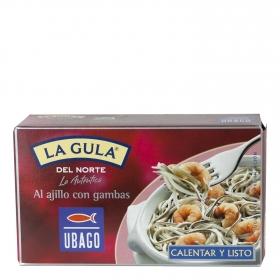 La gula del norte al ajillo con gambas Ubago 115 g.