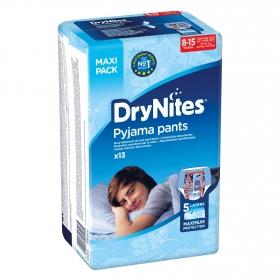 Ropa interior absorbente niño noche DryNites 8-15 años (27kg-57 kg.) 13 ud.