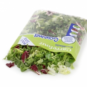 Ensalada mezcla gourmet maxi Carrefour bolsa 350 g