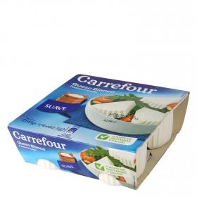 Queso blanco pasteurizado natural Carrefour pack de 4 unidades de 62,5 g.