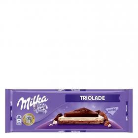 Chocolate con leche, blanco y extrafino Triolade