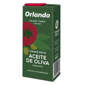 Tomate frito con aceite de oliva virgen extra Orlando sin gluten tarro 350 g.