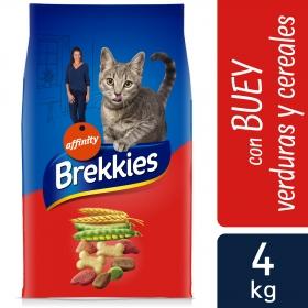 Brekkies Pienso para Gato  Adultos buey, ternera y verduras 4 kg