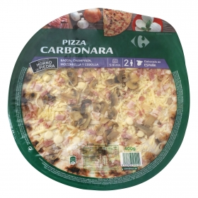 Pizza fresca carbonara Carrefour 400 g.