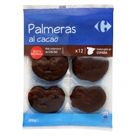 Palmeras de hojaldre al cacao Carrefour 12 ud.
