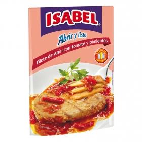 Filete de atún con tomate y pimientos Isabel 102 g.