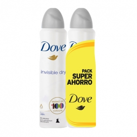 Desodorante en spray aero invisible Dove pack de 2 unidades de 200 ml.