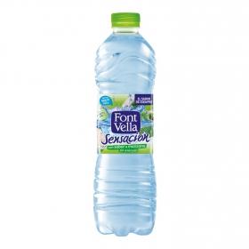 Agua mineral Font Vella sensación 0% azúcares sabor manzana+kiwi
