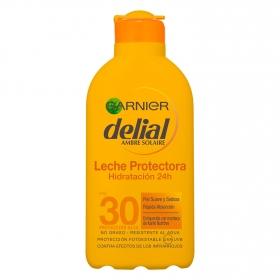 Leche solar para pieles sensibles FP 30 Delial 200 ml.