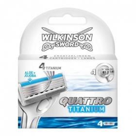 Recambio para maquinilla de afeitar de cuatro hojas Quattro Titanium