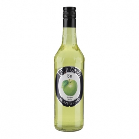 Licor de manzana verde Loch Castle sin alcohol 75 cl.