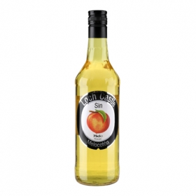 Licor de melocotón Loch Castle sin alcohol 75 cl.