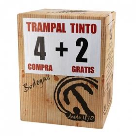 Caja de vino tinto Trampal pack de 4 botellas de 75 cl.