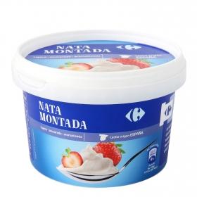 Helado de nata montada azucarada y aromatizada Carrefour 500 g.