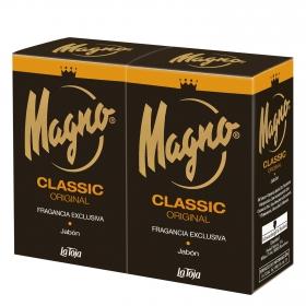 Jabón de manos en pastilla Magno pack de 2 unidades de 125 g.