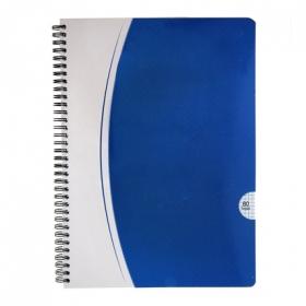 Cuaderno 80 hojas cuadricula tapa blanca