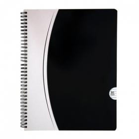Cuaderno 80 hojas raya horizontal tapa blanca