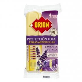 Pinza antipolillas perfume Lavanda Fresca Orion 2 ud.