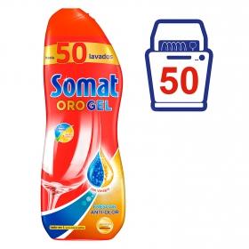 Lavavajillas máquina frescor anti-olor con vinagre en gel Somat 50 lavados.