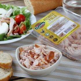 Pechuga de pollo asada en tiras La Carloteña sin lactosa envase 100 g