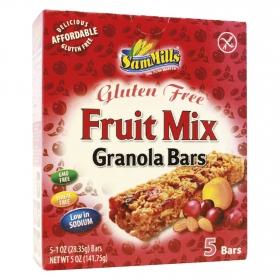 Barritas de cereales con fruta SamMills sin gluten 124 g.