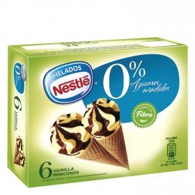 Mini conos de vainilla y chocolate sin azúcar