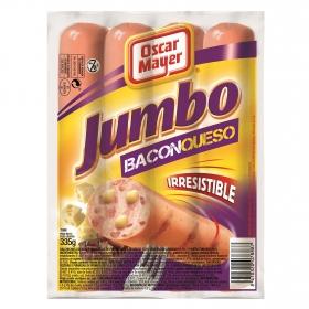 Salchichas Jumbo de queso con bacon Oscar Mayer 350 g.