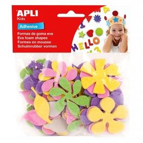 Formas Flores Purpurina Adhesivos Varios Colores