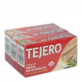 Melva en aceite de oliva Tejero pack de 3 unidades de 78 g.