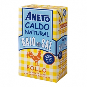 Caldo natural bajo en sal Aneto sin gluten 1 l.