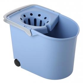 Cubo de Fregar  13 Litros con ruedas Azul