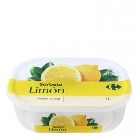 Helado sorbete de limón Carrefour 1000 ml.