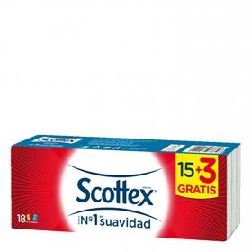 Pañuelos Scottex 18 ud.