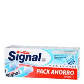 Dentífrico Bicarbonato Blanqueador Signal pack de 2 unidades de 100 ml.